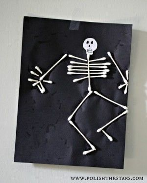 skelet knutselen met oorstokjes                                                                                                                                                      More