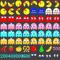 Ms Pacman Pixel Each frame is 16x16 pixels
