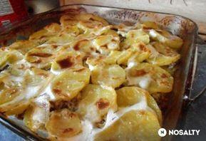 Darált húsos tepsis krumpli