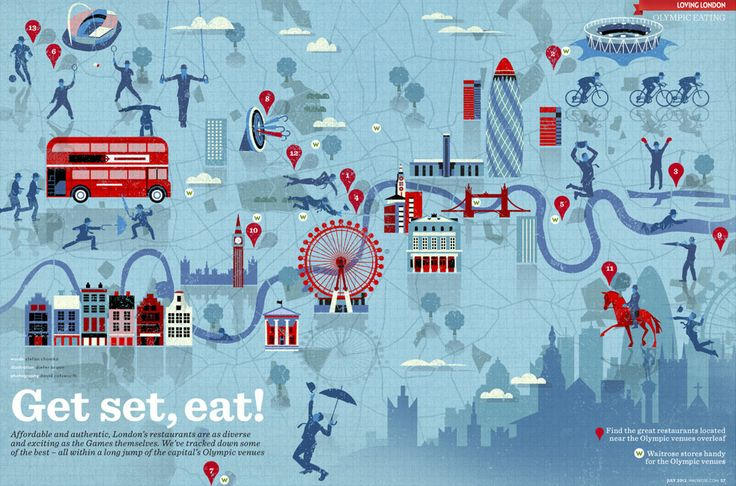BRAUNTOWN: Infographic map of London Olympics by Dieter Braun