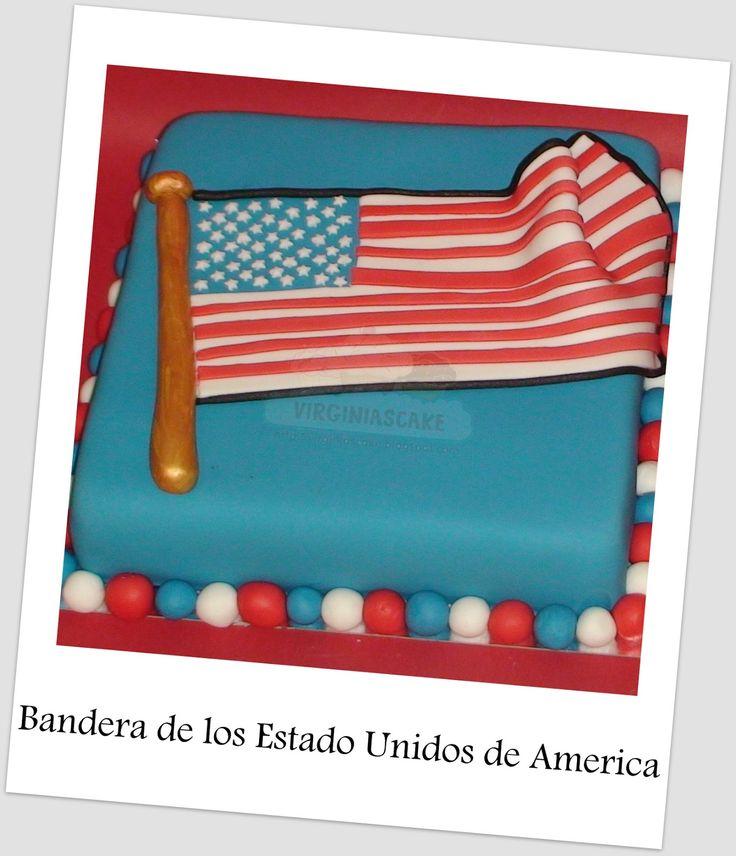 Virginias Cake: Tarta Bandera EEUU