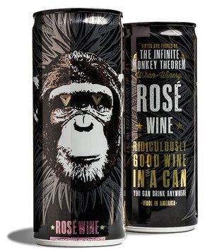 The Infinite Monkey Theorem Rosé Can 4-Pack | For an over-the-top outdoor feast, stock up on these special provisions.