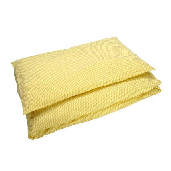 Bettwäsche groß Karo gelb von Sugarapple via dawanda.com