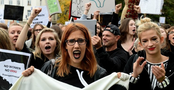 10 badass pics from Poland's massive protest in support of abortion rights