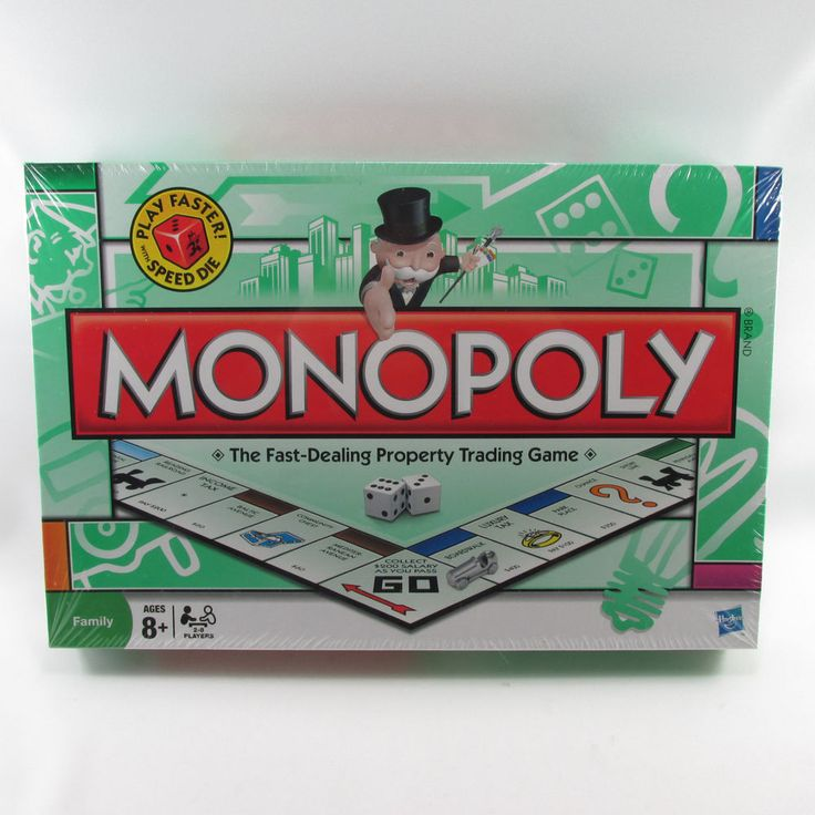 Monopoly Speed Die Board Game New Factory