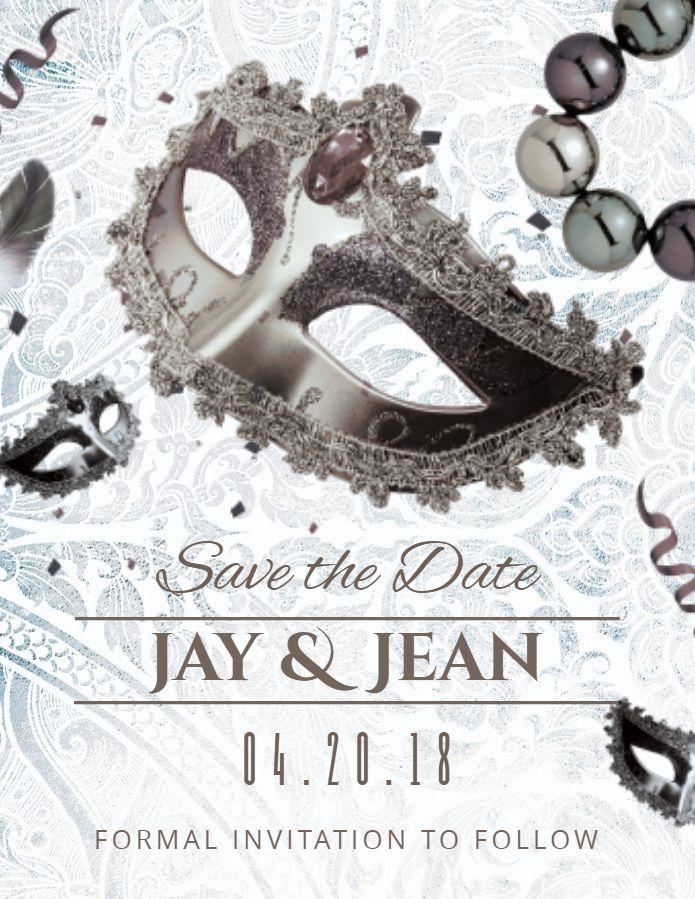 Save the Date Masquerade Halloween Wedding Invitation Set and Thank You Digital File Kit printable RSVP
