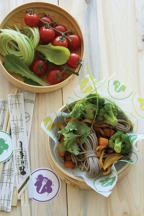 Asian noodle salad (wheat free, antioxidant rich)
