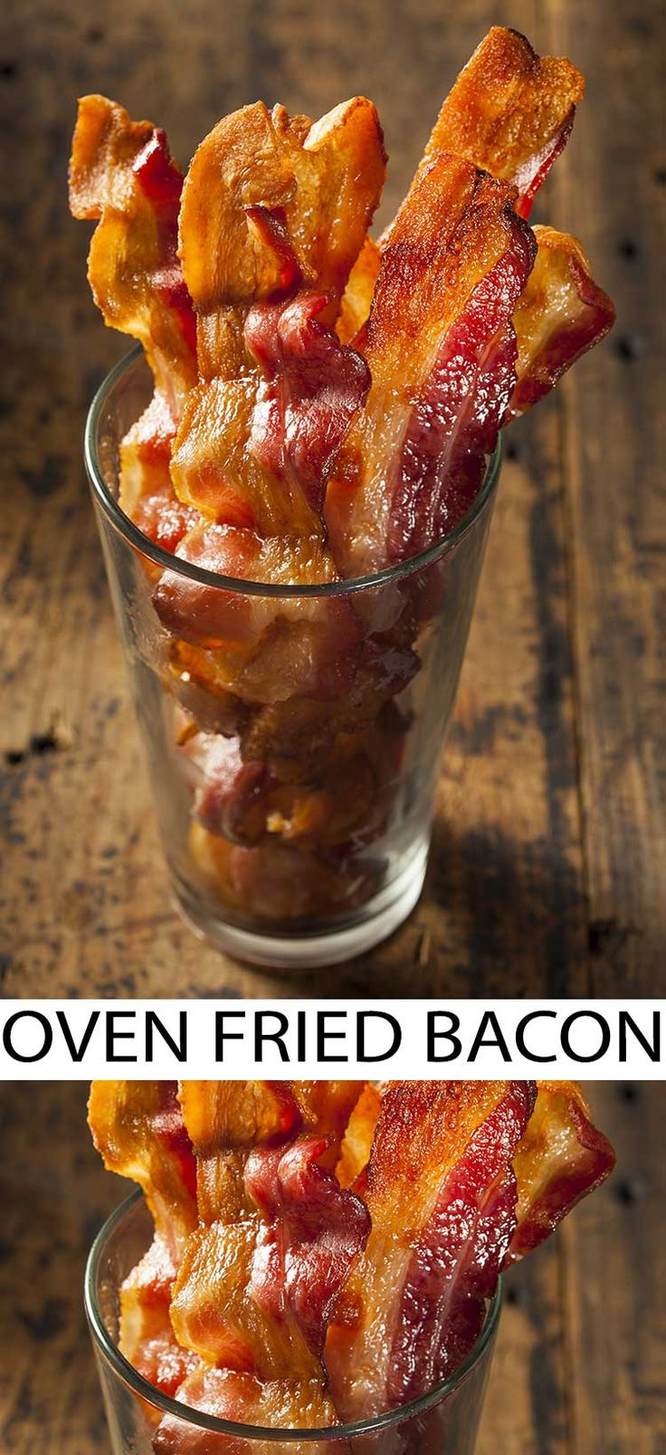 Best Way to Cook Oven Fried Bacon. Cook bacon in the oven for an easier way to make bacon. This is a simple no hassle cooking method that we've used repeatedly to make bacon in the oven.