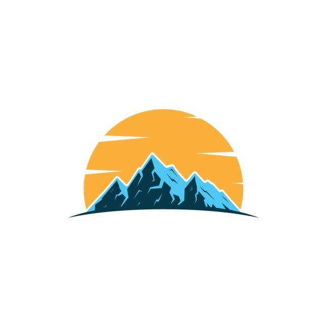 Elemento De Montanha Modelo Vector Ilustrasi Alam Ilustrasi Grafis