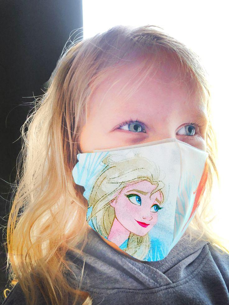 Face Masks Frozen Child reusable with pocket for filter
