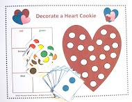 Valentine Game: Decorate a Heart Cookie! (free download!) from Preschool Powol Packets