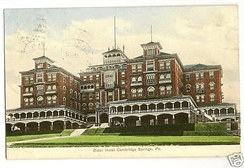Rider Hotel Cambridge Springs Pennsylvania PA