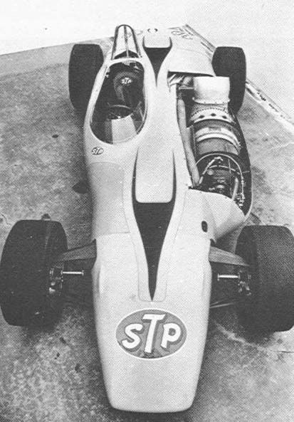 """""""Silent Sam"""" was a 1967 Studebaker Indy racer made by Andy Granatelli, the STP-Paxton 4WD with a 550bhp Pratt & Whitney turbine engine.  Aero-Engined Vintage Racers - THE H.A.M.B."""