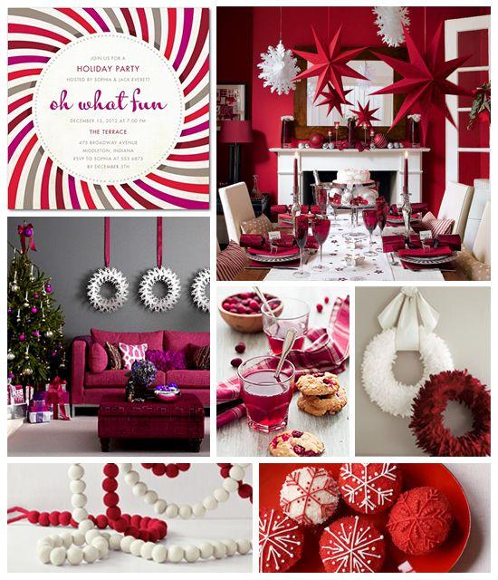 Contemporary Holiday Party Inspiration Board - By Tiny Talk | The Tiny Prints Card & Stationery Blog
