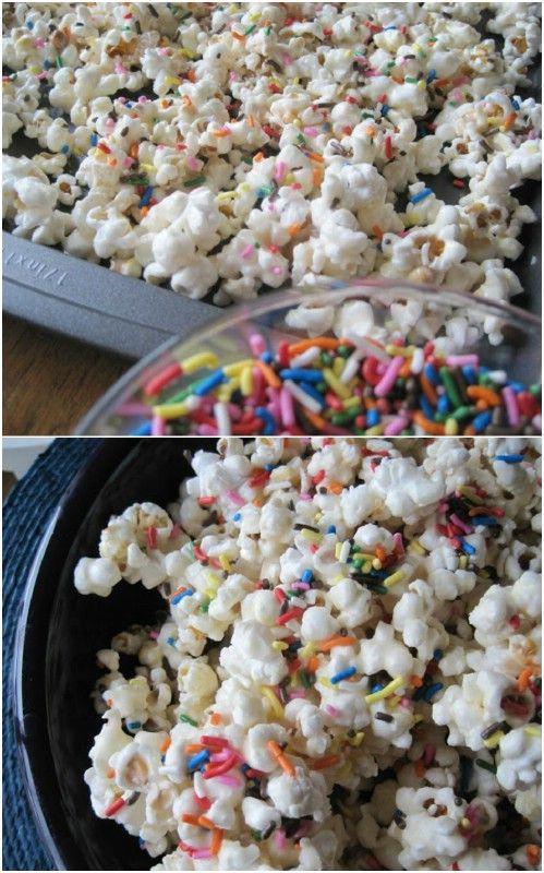 Birthday Cake Batter Flavored Popcorn