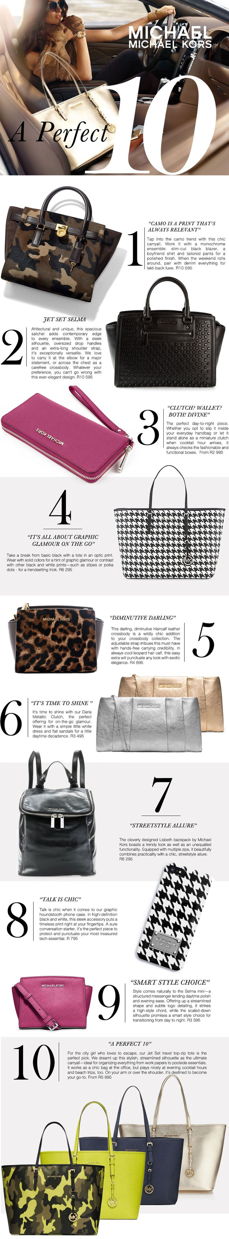 Michael Kors newsletter for Callaghan Collezioni