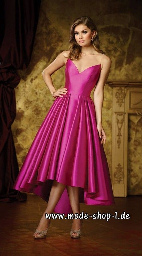 Vokuhila Abendkleid 2018 in Pink