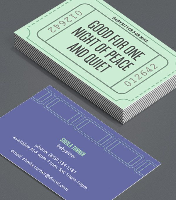 The Best Business Card Ideas Images On Pinterest Business Cards - Kid business card template