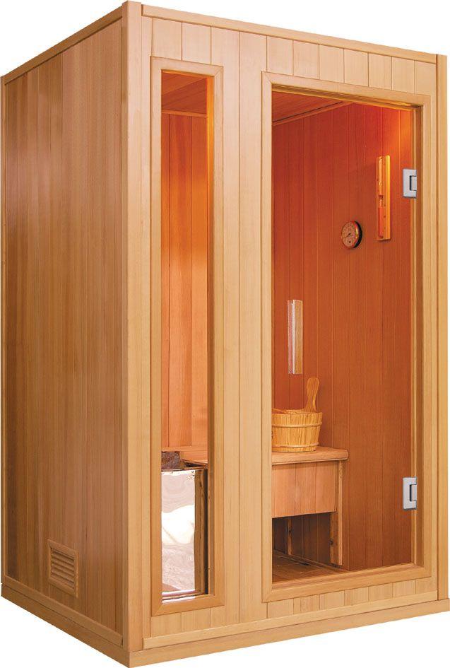 Sauna finlandese a 2 posti in abete canadese 120 x 110 cm
