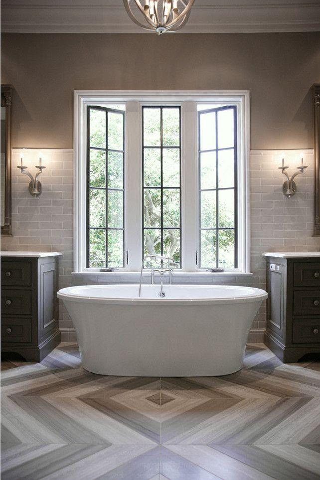 Bathroom. Bathroom Design. Gray bathroom with marble flooring. #Bathroom  CR Home Design K&B (Construction Resources)
