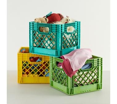 Kids Storage: Colorful Milk Crates for Kids in Under $10