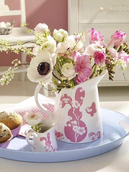 handmade easter decorations, craft ideas for table decorating