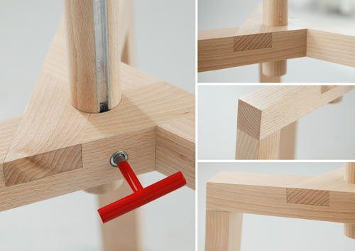 Mesa de centro y banco ajustables en altura by Mazur