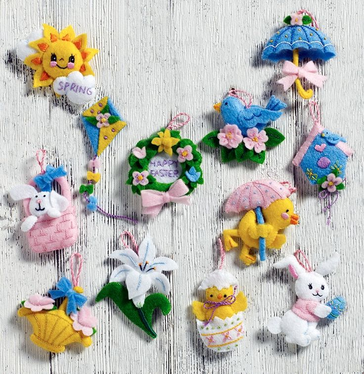 Never before seen Bucilla Easter ornaments. This adorable 12 piece set is available now (January 2017) at MerryStockings.
