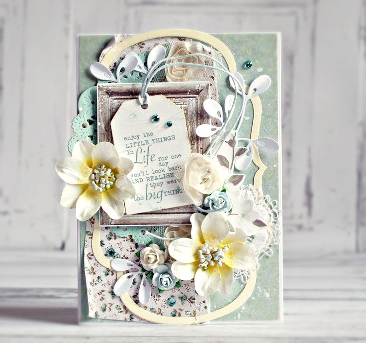 """ENJOY"" card by Anna Zaprzelska (for Kaisercraft using Blue Bay collection) ~ Cards 1"