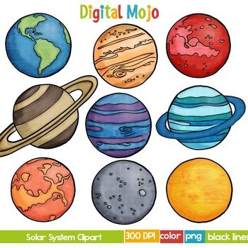 clipart planets solar system - photo #30