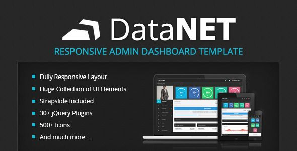 DataNET - Responsive Admin Dashboard Template