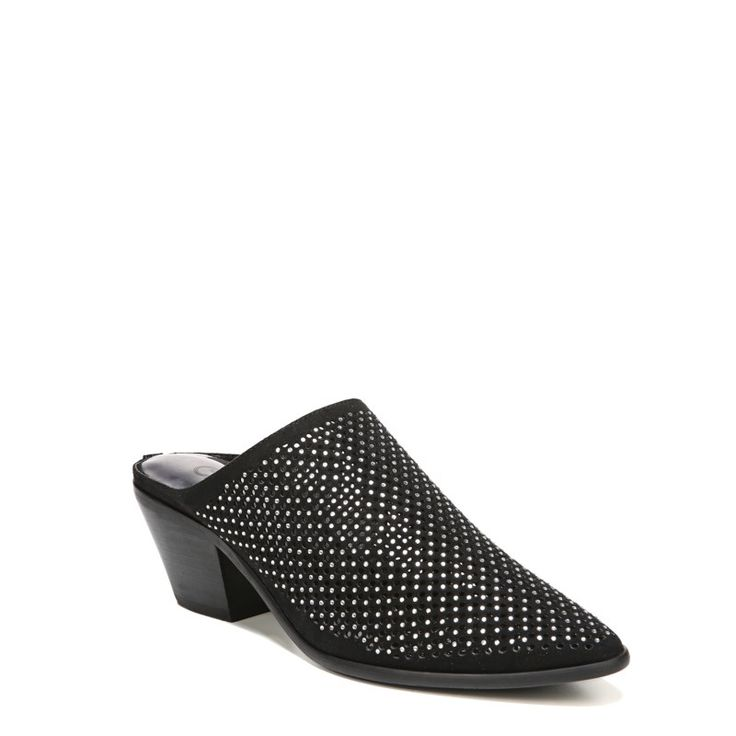 Carlos BY Carlos Santana Women's Penny Mule Shoes (Black Fabric)