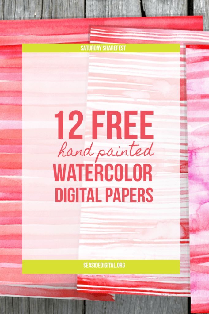 10 Free Watercolor Hand Painted Digital Papers