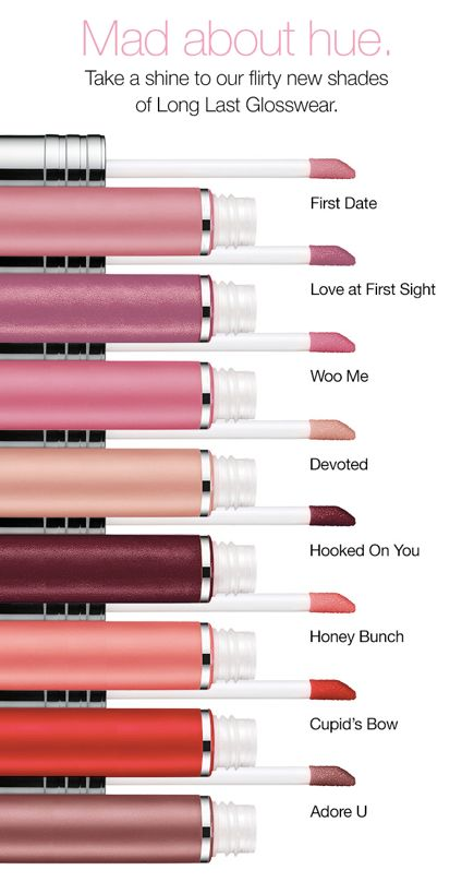 Meet our newest shades of lip gloss! #Clinique