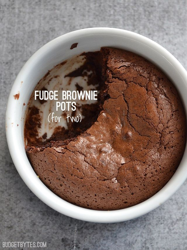 When you want just enough indulgence for two, these rich fudge brownie pots are just what the doctor ordered. @budgetbytes