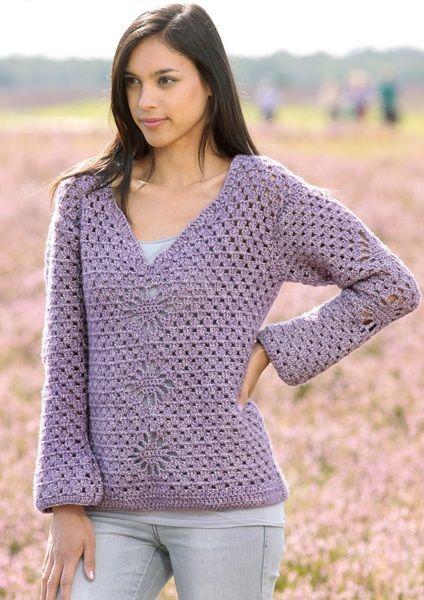 Free Crochet Pattern Scheepjes Stone Washed XL Pullover | Free Patterns