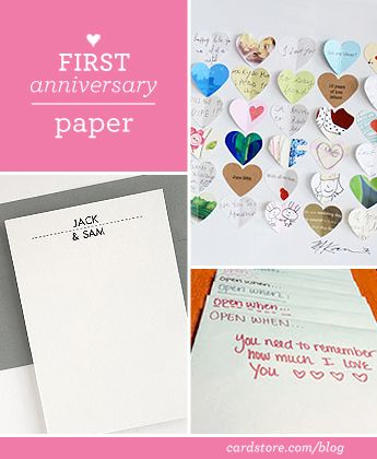 12 best images about anniversary gifts on pinterest for 1st anniversary paper ideas