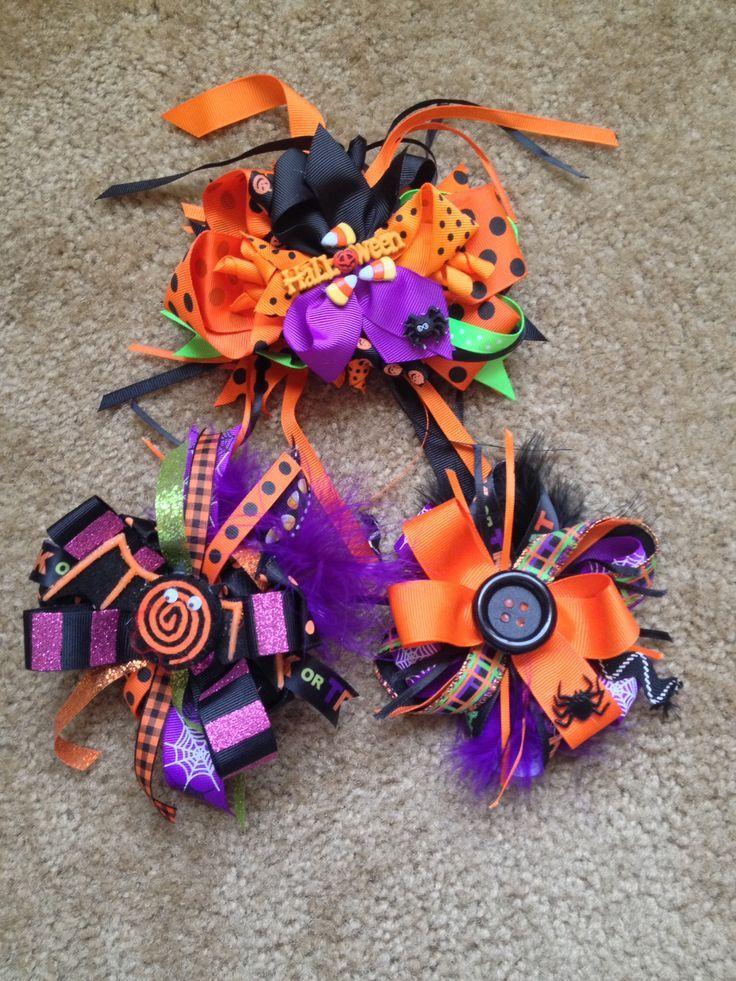 halloween hair bows ideas