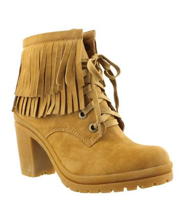 Another great find on #zulily! Yellow Fringe Hanson Boot #zulilyfinds