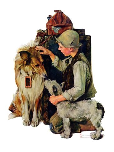 Making Friends or Raleigh Rockwell, September 28,1929 Giclee Print by Norman Rockwell