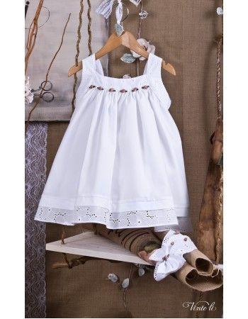 Χειροποίητο Βαπτιστικό φορεματάκι Vinte li