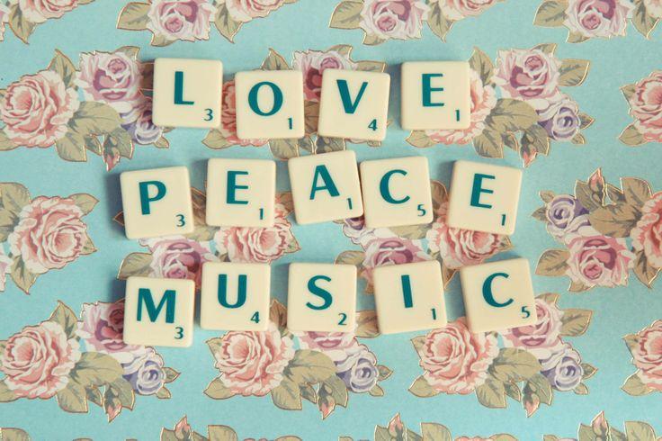 Love Peace Music by Cecile de Vries via Postcards for Peace