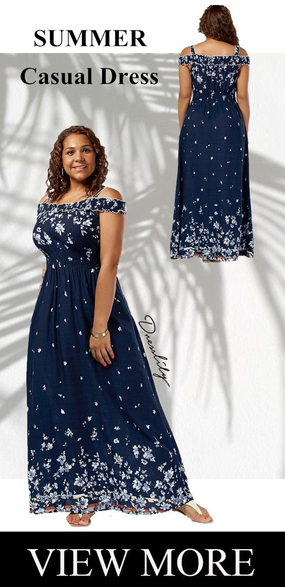 Free shipping worldwide. Up to 60% off.Plus Size Floral Print Cold Shoulder Maxi... 17