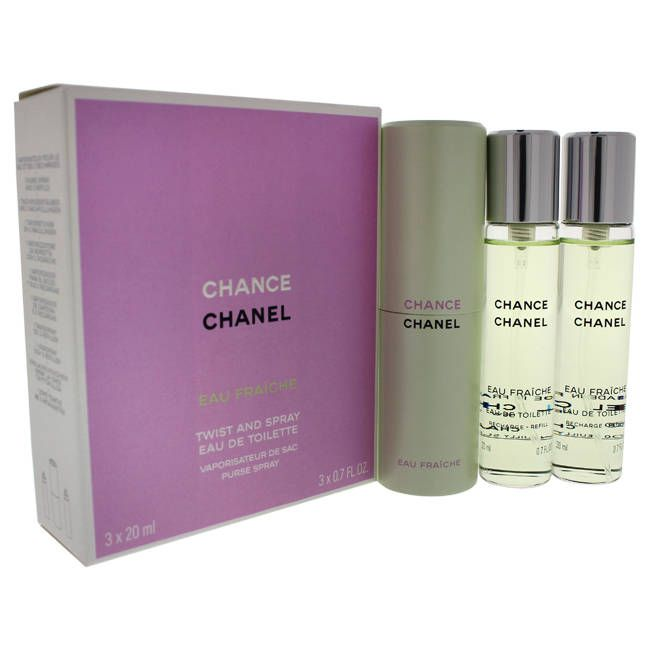 Chanel Chance Eau Fraiche Women's 3 x 0.7-ounce Eau de Toilette Twist and Spray