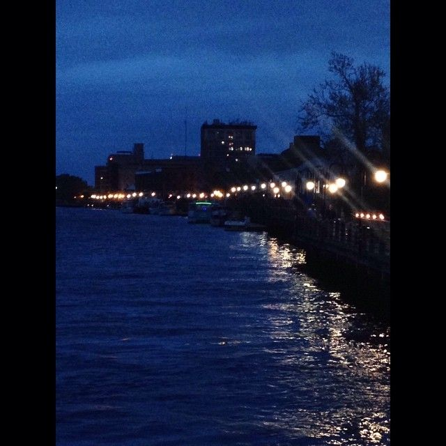 downtown wilmington, nc last night before the rain.