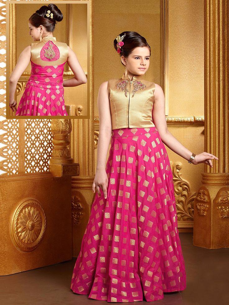 Magenta Silk Alluring Lehenga Choli