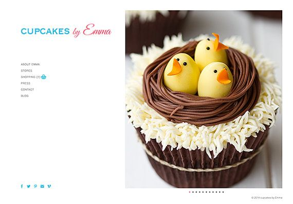 wordpress website web design concept food bakery by partoutdesign