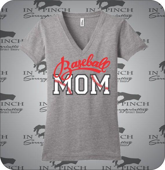 #baseballmom #baseball #mom Buy it here: https://www.etsy.com/listing/266308902/baseball-mom-vneck-t-shirt?ref=shop_home_active_4