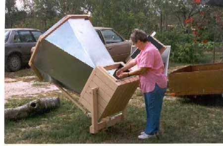 A very hot solar oven, capable of reaching nearly 600 degrees  http://www.omick.net/solar_ovens/solar_ovens.htm