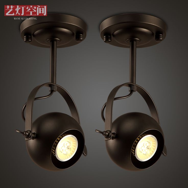 68.40$  Watch here - http://alinzg.worldwells.pw/go.php?t=32686874480 - Loft Spotlight Clothing Store Simple Retro Lounge Bar LED  Adjustment Ceiling Light 68.40$